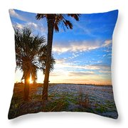 Saturated Sunrise Throw Pillow