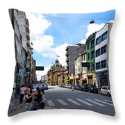 Saturday Afternoon In Sao Paulo Throw Pillow