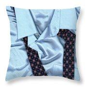 Saturday Morning - Men's Fashion Art By Sharon Cummings  Throw Pillow