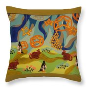 Saturday Night Out Throw Pillow