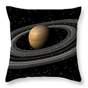 Saturn Throw Pillow
