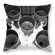 Saturn Five Rocket Work B Throw Pillow
