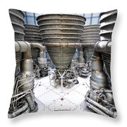 Saturn Five Rockets Throw Pillow