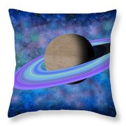 Saturn Journey Throw Pillow