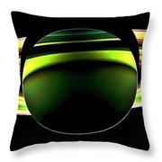 Saturn Shadow Throw Pillow