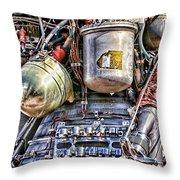 Saturn V J-2 Rocket Engine Throw Pillow