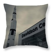 Saturn V Rocket Engine Detail, Used Throw Pillow