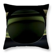 Saturns Glowing Rings Throw Pillow