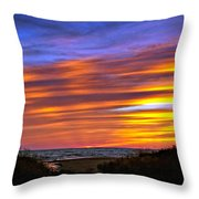 Sauble Sunset Throw Pillow