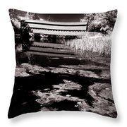 Saucks Bridge Down Stream Throw Pillow