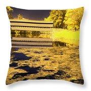 Saucks Bridge - Pond Throw Pillow