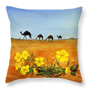 Saudi Arabian Desert Throw Pillow