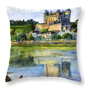 Saumur Chateau France Throw Pillow