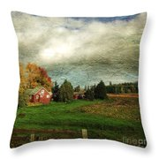 Sauvie Island Farm Throw Pillow