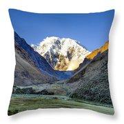 Savage Mountain Throw Pillow