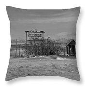 Savageton Cemetery  Wyoming Throw Pillow