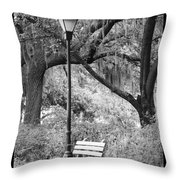 Savannah Afternoon - Black And White Throw Pillow