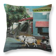 Savannah City Market Throw Pillow