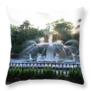 Savannah Georgia Forsyth Park Fountain Throw Pillow