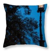 Savannah Harbor Light Savannah Georgia Throw Pillow