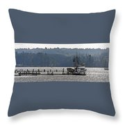 Savannah Jean On Liberty Bay Throw Pillow