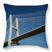 Savannah River Bridge Georgia Usa Throw Pillow