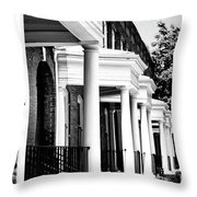 Savannah Rowhouses Savannah Ga Throw Pillow