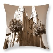 Savannah Sepia - Methodist Church Throw Pillow