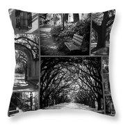 Savannah Shadows Collage Throw Pillow