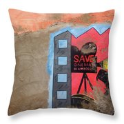 Save Cinema In Morocco Throw Pillow