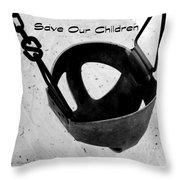 Save Our Children Throw Pillow