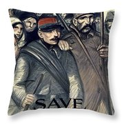 Save Serbia Our Ally Throw Pillow by Theophile Alexandre Steinlen