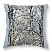 Save The Date - Winter Wedding Throw Pillow