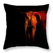 Save The Elephant Throw Pillow