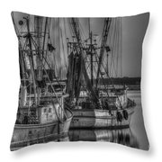 Save The Lowcountry Shrimping  Throw Pillow