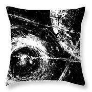 Save The Planet - Black And White -horizontal Formal -abstract By Laura Gomez Throw Pillow