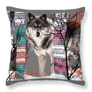 Save The Wolves Throw Pillow