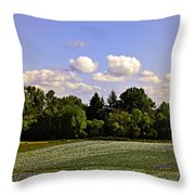 Savie Island Flower Garden Throw Pillow