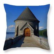 Saville Dam Throw Pillow by Stephen Melcher