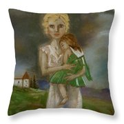 Saving Peggy Throw Pillow