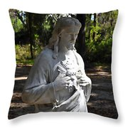 Savior Statue Throw Pillow by Al Powell Photography USA
