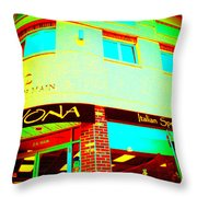 Savona Fine Italian Food And Wine 6 Throw Pillow