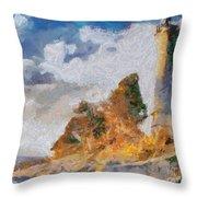 Savudrija Lighthouse Throw Pillow