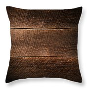 Saw Marks On Wood Throw Pillow by Olivier Le Queinec