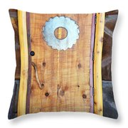 Sawmill Door Throw Pillow