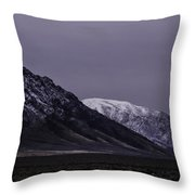 Sawtooth Mountain At Night Throw Pillow