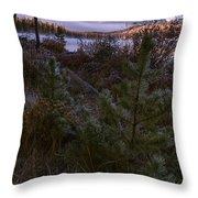 Sawtooth Mountain Throw Pillow