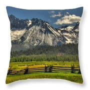 Sawtooth Mountains Throw Pillow