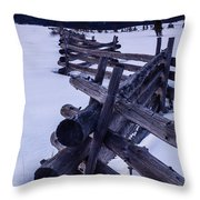 Sawtooth Sunset In Winter Throw Pillow