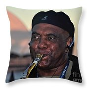 Sax In The City Throw Pillow